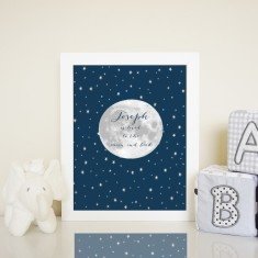 Personalised to the moon print