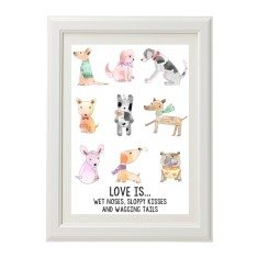 For the love of dogs & puppies print