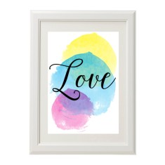 Watercolour love print