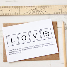 Elements of a lover card