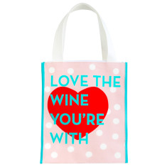 Love the wine you're with canvas tote bag
