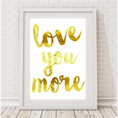 Love you more watercolour print (various colours)