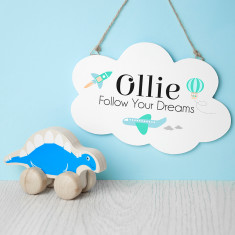 Personalised Follow Your Dreams Cloud Wall Hanging