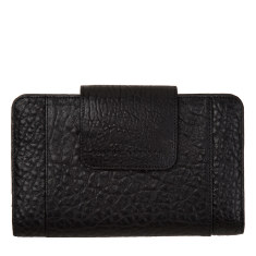 Precipice leather wallet in black