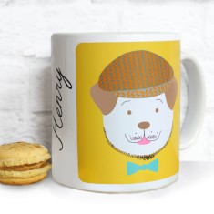 Personalised Fido Character Mug With Tweed Cap