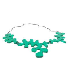 Matisse Green Mirror Necklace