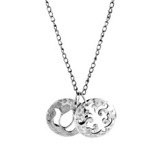 Disc charm necklace in sterling silver