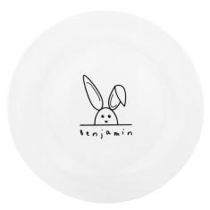 Children's Personalised Rabbit Plate