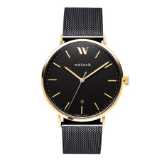 Versa 40 Watch In Gold with Black Mesh