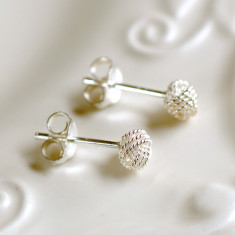 Small Sterling Silver Knot Earrings