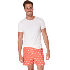 Gone fishing red men's boxer shorts