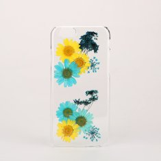 Pressed multi flower clear phone case for iPhone & Samsung