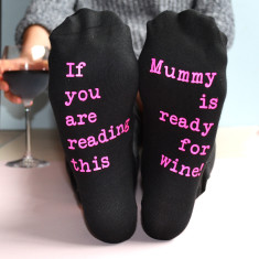 For Wine Personalised Socks