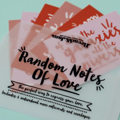 Random notes of love set of notecards