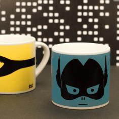 Kids' superhero mug in blue