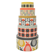 Orla Kiely set of 5 cake tins in pear and multi-flower
