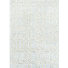 Pastel Blue/Fog hand tufted wool & art silk rug