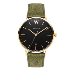 Versa 40 watch in Gold with Olive band