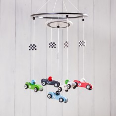 Racing Driver Children's Wooden Mobile