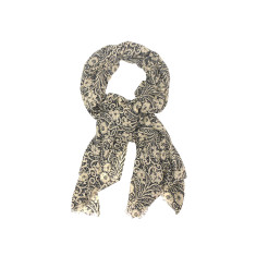 My Softest Cotton Scarf: Black Floral Dance