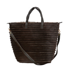 Luna Tote in Black Raya