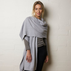 Knit Panel Cotton Luxe Wrap