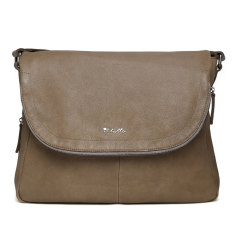 Il Tutto Ryder Leather Satchel Baby Bag in Ochre