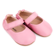 Pre-walker leather lady jane shoe in pink
