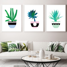 Cactus trio art prints (set of 3)