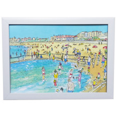 Bondi Beach Kiddie Pool framed watercolour art print