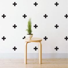 Mini crosses wall stickers
