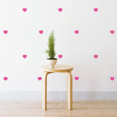 Love hearts wall stickers
