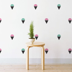 Ice creams wall stickers