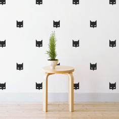 Mini Batman mask wall stickers