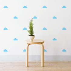 Mini clouds wall stickers
