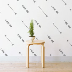 Tribal arrows wall stickers (various colours)