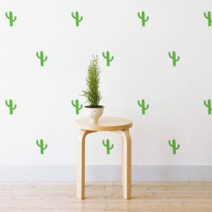 Mini cactus wall stickers