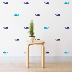 Mini whales wall stickers