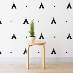 Tribal teepees wall stickers