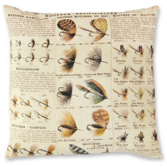Vintage Fishing Lures linen cushion cover