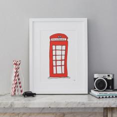 Telephone Box A4 Print