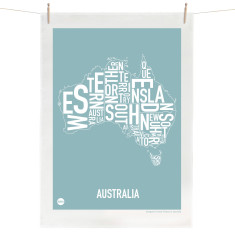 Australia tea towel (various colours)