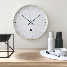 Metta SILENT SWEEP Wall Clock with Date (Multiple Colours) by Toki