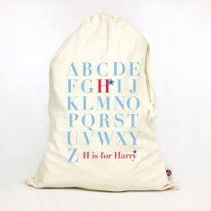 Kids' personalised A-Z storage sack (boys)