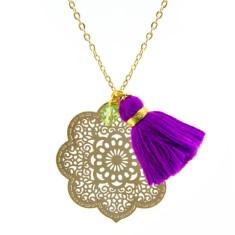 Gold Casablanca tassel pendant