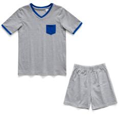 Boys Soft cotton pyjamas with Blue Patch Pocket