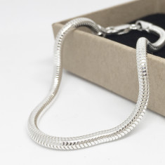 Sterling Silver Charm Snake Bracelet