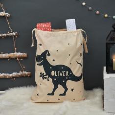 Personalised T Rex Christmas Sack