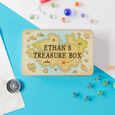 Children's Personalised Treasure Box Storage Tin