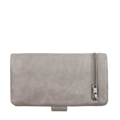 Esther leather wallet in light grey